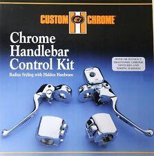 CHROME HANDLEBAR CONTROL KIT DUAL DISC HARLEY 96-06 11/16 BORE MASTER CYLINDER