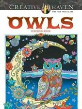 Creative Haven Owls Coloring Book (Adult Coloring), New, Free Shipping