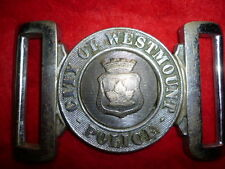 Canadian City of Westmount Police Belt Buckle, obsolete, Maker Marked, Pre 1950