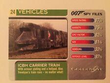 Goldeneye ICBM Carrier Train #24 Vehicles - 007 James Bond Spy Files Card
