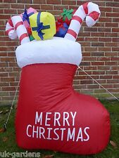 Inflatable Christmas Stocking Presents Decoration 120cm 4ft LED Lights Outdoor