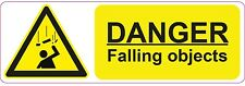 DANGER - Falling Objects - 300x100mm| health and safety | signs/stickers