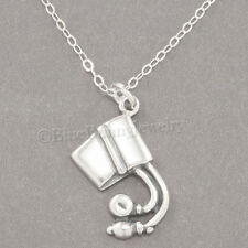 BLOOD PRESSURE CUFF Charm Medical Doctor Nurse Pendant STERLING SILVER Necklace