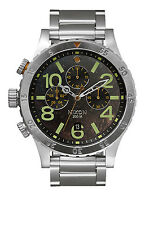New Nixon 48-20 Chronograph Stainless Steel Men's Watch A4861956