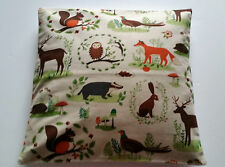 Owl Wildlife Cushion Cover - Forest Animals Deer - Rabbits Woodland Scene Linen