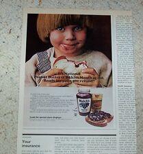1974 advertising - Welch's Grape Jelly CUTE little BOY peanut butter sandwich AD