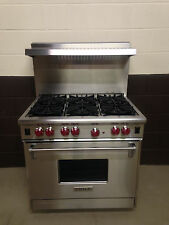 "Wolf R366 36"" Professional Gas Range Oven 6 Burner Stainless Steel"