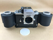 Nikon F Apollo 1973 Film Camera w/ MF-250 Film Back Magazine # 7360817- NICE