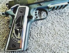 ALUMINUM 1911 PISTOL GRIPS MOLON LABE COME AND TAKE THEM POLISHED COLT + OTHERS