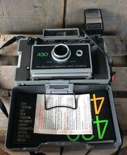 Vintage 430 Polaroid Automatic Land Camera With Focus Flash & Manual