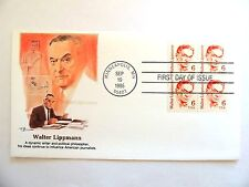 "September 19th, 1985 ""Walter Lippman""  First Day Issue Plate Block"