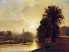 PAINTING LANDSCAPE INNESS AUTUMN MEADOWS OLD MASTER REPLICA POSTER PRINT PAM2107