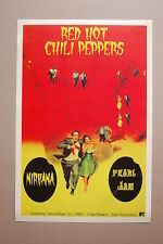 Red Hot Chili Peppers Concert Tour Poster 1991 Cow Palace San Fran Nirvana Pearl