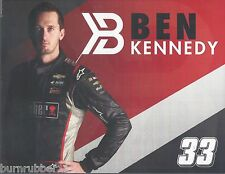 """2016 BEN KENNEDY """"WEBER GRILLS GMS RACING"""" #33 NASCAR TRUCK SERIES POSTCARD"""