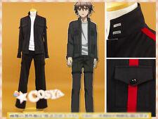 Guilty Crown Shu Ouma Cosplay Costume Black White School Sportswear Custom Made