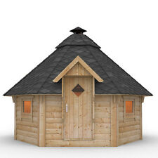 Wooden BBQ Hut Grill House Grillkota Barbecue Winter Summer Garden Log Cabin