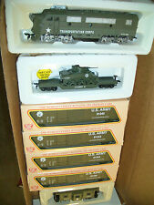 HO   MILITARY  US ARMY F-3 & 6 CARS   TRAIN SET  US ARMY TRAIN SET BBF-203
