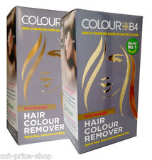 2 x Colour B4 Hair Dye Colour Remover Extra Strength Hair Colour Remover