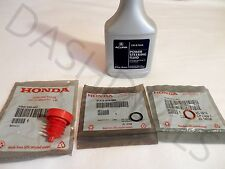 NEW GENUINE ACURA Power Steering Pump O-Ring Seals & Fluid - 4 pc Reseal Kit -