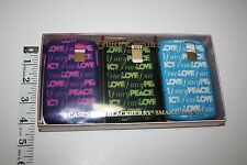 NEW NIB Juicy Couture Lot 3 Cases for Blackberry Smartphones Peace Love