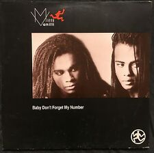 """Milli Vanilli 12"""" Baby Don't Forget My Number - Europe (EX/EX+)"""