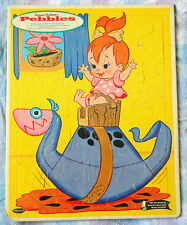 "VINTAGE 1963 WHITMAN ""PEBBLES"" HANNA-BARBERA'S FRAME TRAY PUZZLE USA #4434"