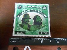 "2.5"" Funny Marijuana Cheech and Chong STICKER. 420 Weed stamp. For bong or pipe."