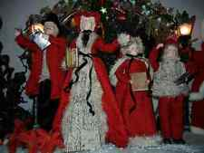 VICTORIAN LARGE 22 INCH 4 PIECE DELUXE CAROLER SET CHRISTMAS RARE ( NEW ) H-4