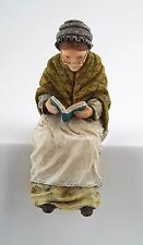 "1/12TH  DOLLS HOUSE ""GRANDMOTHER""  SITTING WITH BOOK FIGURE"