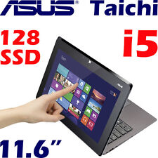 "Asus Taichi21 11.6"" 1920x1080 Touch Core i5 4G 128GB SSD Win8 Laptop Refurbished"