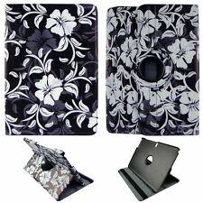 WHITE FLOWER CASE SAMSUNG GALAXY NOTE PRO 12.2 360 ROTATING STAND TABLET COVER