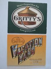 Beer Bar Coaster ~ GRITTY'S Brew Pub Vacation Land Summer Ale ~ Portland, Maine