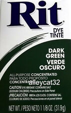 Rit Fabric Dye Powder - DARK GREEN - 1 1/8 oz