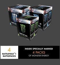 BATTLEFIELD 1 BATTLEPACK CODES (4)PACK--MONSTER ENERGY PROMO!!