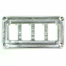 Universal Dash Panel Only Raw Finish Four Switch Panel UTV SUV Off Road Part