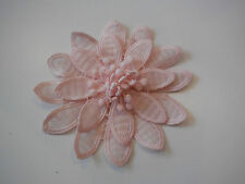 Pink OR off white double layered floral lace applique / decorative lace motif