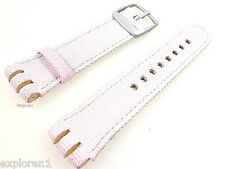 SWATCH: in pelle bracciale color rosa-per Miscellaneous-Beat (medium!) * NUOVO *
