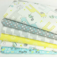 Baby Giraffe 6  piece fat quarter bundle 100% cotton fabric for sewing