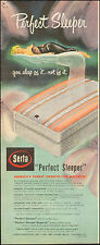 "1950-Vintage ad for Serta Mattress ""Perfect Sleep"" Art sexy model (052915)"