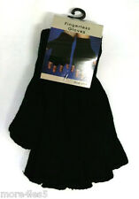 FINGERLESS GLOVES BLACK THERMAL WARM UNISEX ONE SIZE FITS FOR ALL WINTER NEW