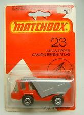 Matchbox SF Nr. 23B Atlas späte Farbe rot & silver top im Blister