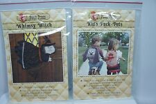 2 PATCH PRESS 1980 Patterns - Kids Pack Pet BACKPACKS & Whimsy Witch Door Hanger