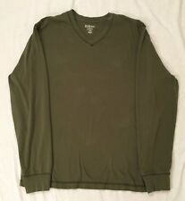 Old Navy Classic Mens Long Sleeve T-shirt V-neck Olive Green Large