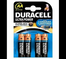 4 x Duracell AA Ultra Power Alkaline Batteries - LR6, MX1500, MN1500, MIGNON