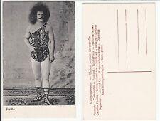 Sascha en el disfraz de tigre en el circo Circus male hippie afro look Freak c.1915 gay