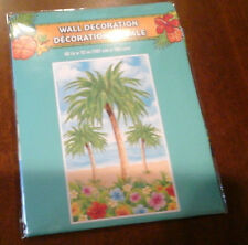 6 foot PALM TREE  Wall Mural Scene Setter Luau Tropical Party Supplies