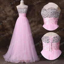 New Beaded Long Quinceanera Dress Ball Gown Formal Prom Party Wedding Dresses
