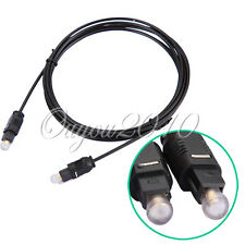 2M 6.5FT Cable Fibra Óptico Digital Audio SPDIF MD DVD TosLink Buena Calidad