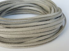 5m x 3mm Ecru Natural Stone Faux Imitation Suede Cord Thong Lace Necklace