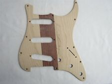 Unfinished hand made Maple wood STRAT GUITAR SSS Pickguard #3490